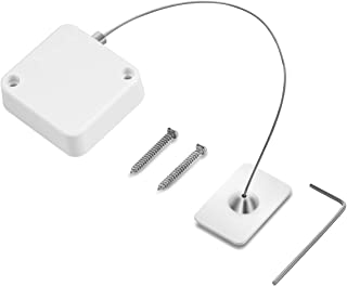 Easycosy Retractable Laptop Cable Lock Hardware Security Cable Lock Anti Theft Combination Lock for iPad Tablet MacBook Mobile Notebook (White-1P)