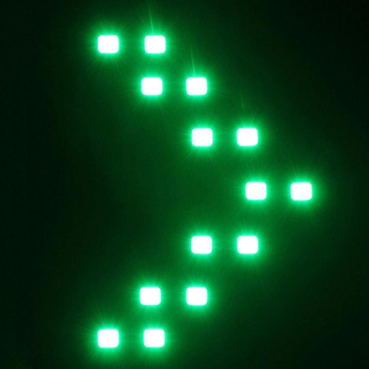 Quaanti Turn Signal Car Light,2 Pcs/lot 14 SMD LED Arrow Panel for Car Rear View Mirror Indicator Car LED Rearview Mirror Light (Green)