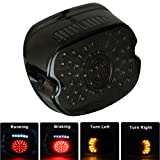 MOVOTOR Led Tail Light LED Brake Turn Signal Rear Light Low Profile Smoked Taillights Compatible with Harley Davidson Dyna Sportster 883 1200 Road King Plug N Play