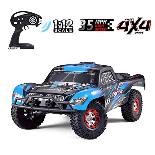 Upgraded Brushless Monster High Speed RC Truck, Keliwow 1:12 Scale 4WD...