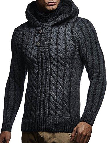 Leif Nelson Los Hombres del Jersey de Punto suéter Encapuchado #NV N # #NV
