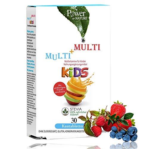 Multi-Vitamine   10 Wirkstoffe Speziell Für Kinder Dosiert   Monatspackung 30 Kautabletten Mit C B D3 Vitaminen   Fruchtig, Ohne Zucker-Zusatz, Vegetarisch   Herstellung in Deutschland