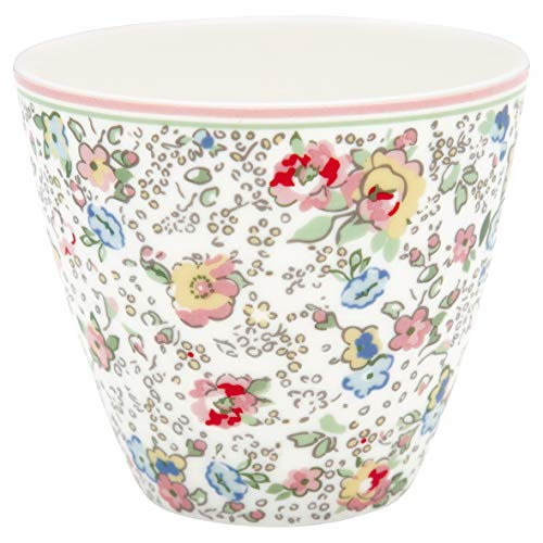 GreenGate - Becher, Tasse, Kaffeetasse, Latte Cup - Vivianne - Porzellan - White - 300 ml