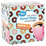 Great Value Donut Shop 100% Arabica Ground Coffee Medium 48 count