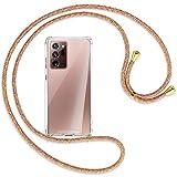 mtb more energy® Collana Smartphone per Samsung Galaxy Note 20 Ultra (SM-N985, 6.9'') - Rainbow/Oro - Allegato di Seguito - Custodia Cover a Tracolla con cordina