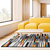 Universal Alfombra Geométrica Anouk Stripes Multicolor, Polipropileno, 140 x 200 cm