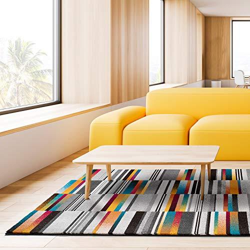 Universal Alfombra Geométrica Anouk Stripes Multicolor, Polipropileno, 80 x 150 cm