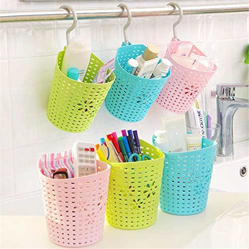 Egab Hanging Organizer Storage Basket Holder With Hook For Kitchen Bathroom Accessories Stationery Remote Controller Storage Box