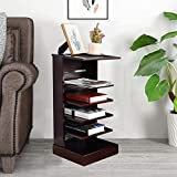 &WOOD LIFE Magazine Rack Free-Standing Side Corner Table Mahogany Book Storage with 5 Shelves Bookshelf, End Table for Living Room