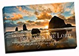 Christian Wall Art Canvas - For I Know The Plans I Have For You, Jeremiah 29:11, Faith Art, Bible Verse Wall Decor, Scripture Canvas, Ocean Scene (12x18)