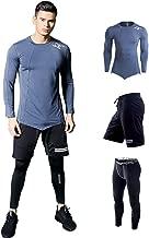 JJZZ Thermo-Unterwäsche für Herren SchnelltrocknendLaufsetsKompressionssportanzüge BasketballkleidungSportbekleidung Gym Shorts T-Shirt