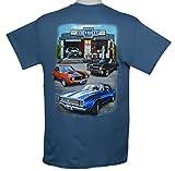 Joe Blow Men's Chevy Super Service Muscle Garage Adult T-Shirt, Large, Indigo