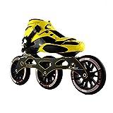 mfw@wewe Pattini a rulli, Scarpe da Pattinaggio a velocità, Uomo Adulto e Donna Scarpe da Corsa in Linea, Pattini per Bambini Principianti, Scarpe puleggia Professionali (Color : Black)
