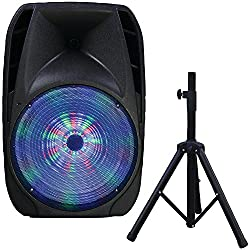 top 10 supersonic portable speaker Portable Supersonic IQ Sound Bluetooth Speaker – 25W RMS – Black (IQ-4415DJBT)