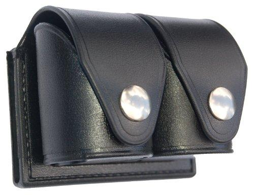 HKS 203M-P Double Speedloader Case (Black) (Medium) (Plain)