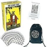 N+A Tarot Cards Set, Tarocchi Tarotology Universal Waite Tarot Divination Tarot Cards Deck with English Instruction Manual 78 Tarot Cards Deck with Black Velvet Pouch Bag