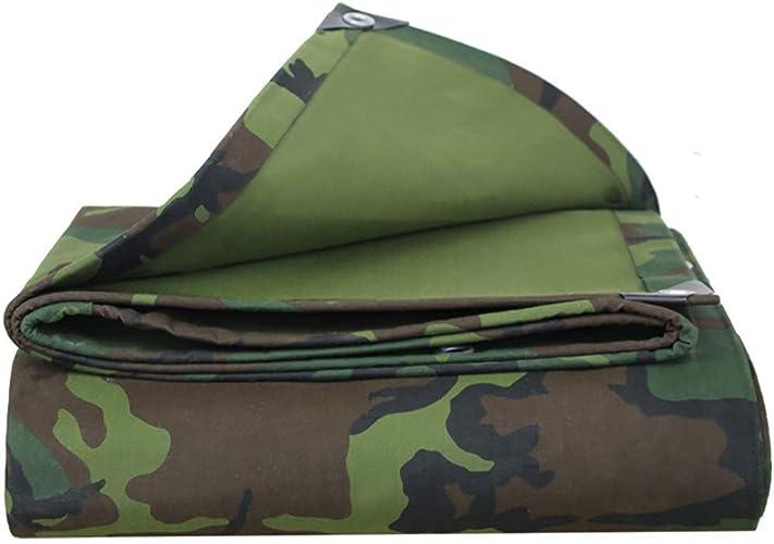 T-ShommeET Toile De Bache Camouflage Imperméable Feuille De Plastique Antigel écran Solaire Anti-Vieillissement Extérieur (LxW 1.9X3.9 m) Stores Tente