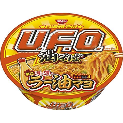 6位日清食品『焼そばU.F.O.油そば辛口濃い濃いラー油マヨ付き』
