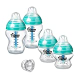 Tommee Tippee Advanced Anti-Colic Newborn Baby Bottle Feeding Set, Heat Sensing Technology, Breast-Like Nipple, BPA-Fr