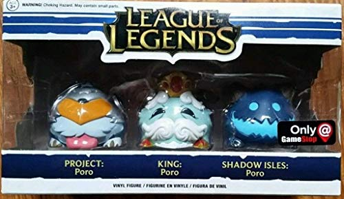 Funko League of Legends Poro 3 Pack, Gamestop Exclusive, Project, King, Shadow Isles