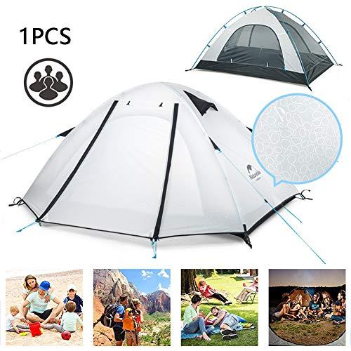 DASGF 4 Personen Dubbele Laag Outdoor Camping Tent Regendichte Zonnescherm Strand Tent, Draagbare Strand Baby Luifel, 210 * 210Cm, Pak voor Tuin, Vissen, Picknicken