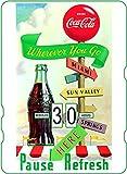 Calendario perpetuo Coca-Cola: Pause Refresh Wherever You Go