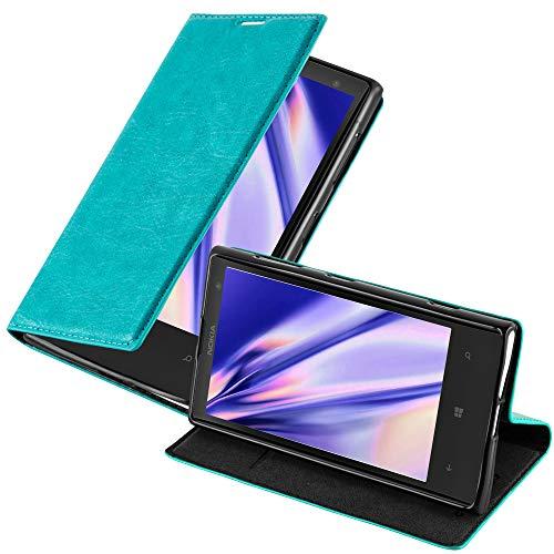 Cadorabo Custodia Libro per Nokia Lumia 1020 in TURCHESE PETROLIO - con Vani di Carte, Funzione Stand e Chiusura Magnetica - Portafoglio Cover Case Wallet Book Etui Protezione
