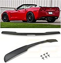 Extreme Online Store for 2005-2013 Chevrolet Corvette C6 All Models   EOS ZR1 Style ABS Plastic Matte Black Rear Trunk Lid Wing Spoiler with Hardware Included