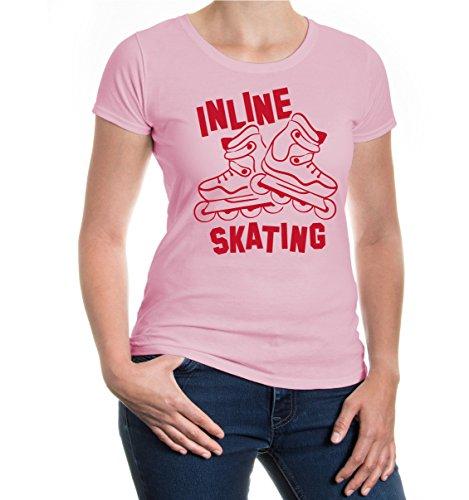 Gilrie T-Shirt Inline Skating V2-M-Lightpink-Bordeaux