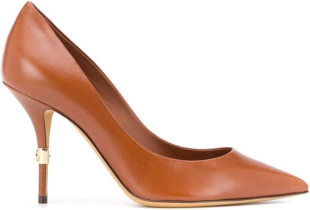 Dolce & gabbana scarpe decolleté pelle marrone CD1571AW54980025
