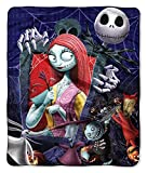 Disney Nightmare Before Christmas Jack Skellington Sally and The Gang Silk Touch Throw Blanket 50' x60' (127cm x 152cm)