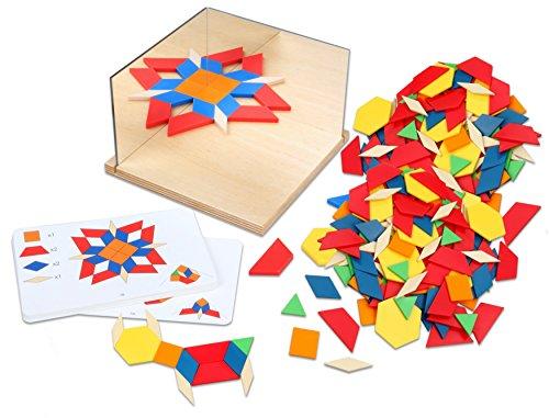 Betzold 756102 - Eckspiegel zum Muster Legen, Geometrie Geometrische Formen Kinder Mathematik Grundschule Spiegel