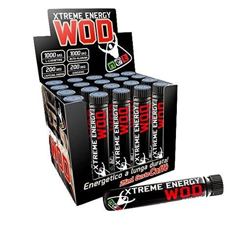 Net Extreme Wod Energy 10 fiale con Carnitina Caffeina Beta Alanina e Ginseng