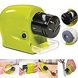 Dobo® Afilador de cuchillos eléctrico con pilas. Afila cuchillas, cuchillos, tijeras, destornilladores.