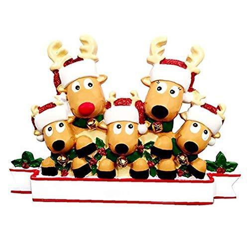 Ornamentos de Navidad, decoración del árbol de Navidad Elk moldes de Silicona, Colgando TagsMerry Navidad Pintado Elk Colgante style4