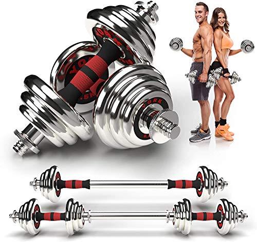 Ohyes Hanteln Set, Einstellbare Hantel Langhantel Lifting Set 20kg, Männer und Frauen Gewichte Set, Home Krafttraining Ausrüstung