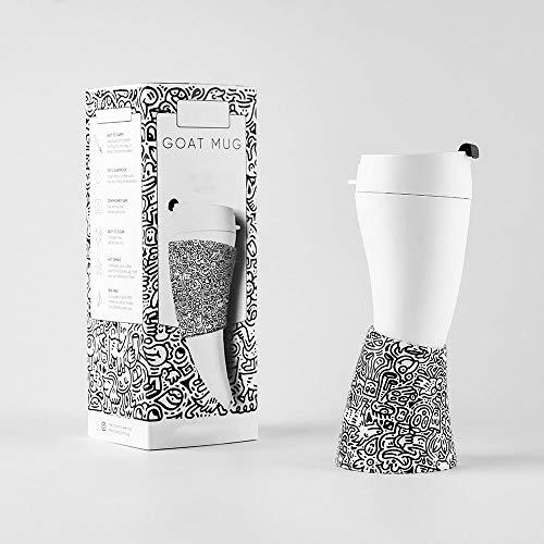 Magasin DAMAI Tasse De Café De Corne De Chèvre, Illustration Créative Et Ligne De Graffiti Tasse De Transport, Noir Et Blanc Bureau Décoration De Style Chinois