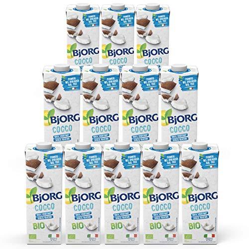 BJORG Bevanda di Cocco Biologica, 12 x 1 L