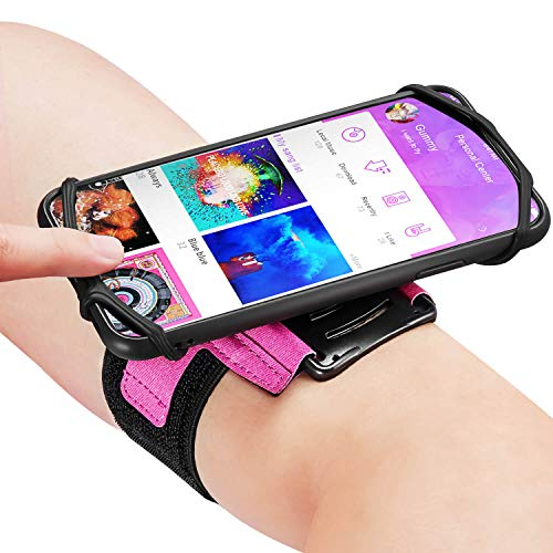 Newppon Cell Phone Holder Armbands :with Key Pocket & 180° Rotatable for Apple iPhone Xs Max XR X 8 7 6 6S Plus Galaxy S9+ S9 S8 S7 S6 Edge Note 8 Motorola HTC One,for Exercise Workout Jogging Biking