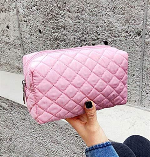 Grande Capacité 1 pcs Femmes multifonction portable Sac cosmétique Voyage maquillage Housse de rangement Organisateur Toiletry (Color : Pink)