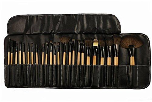 kolight 24pcs Top profesional lana cosméticos maquillaje cepillo conjunto Kit Cepillos y herramientas Make Up Case
