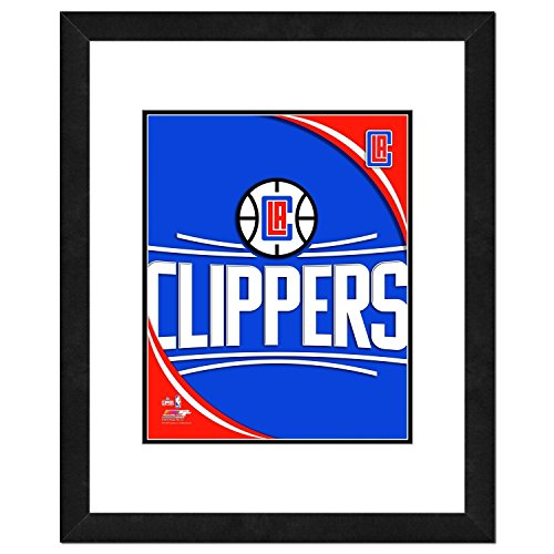 "NBA Los Angeles Clippers Team Logo Double Matted & Framed Photo, 18"" x 22"", Multicolor"