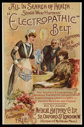"""Electropathic Belt Poster Art""""for suffering men and women"""" 