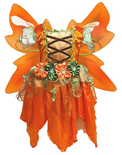 Petitebella Fairy Costume Dress 1-10y (Orange, 4-6year)