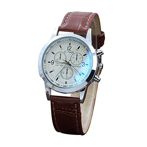Uhren Armbanduhr Männer Uhr Mode Armbanduhren Quarzuhr Herrenuhr Analoge Lederband Geschäft Günstig Geschenke Wasserdicht Quarz Sportuhr