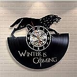 FDGFDG Reloj de Pared de Vinilo Vintage CD Record Reloj clásico Decoración artística para el hogarRelojescreativosMecanismo de Cuarzo Reloj Mural