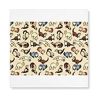 愛らしいフェレ 木製 額縁 フォトフレーム 壁掛け 木製 横縦兼用 絵を含む 40×40cm