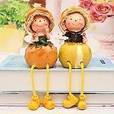 WOREX Escultura Herramientas creativas Pastoral Dibujos Animados Muñeca Granada Naranja pera Chino Col Sandía Fruta Colgando pies Muñeca Decoración del Hogar Precio Naranja Pies Colgantes