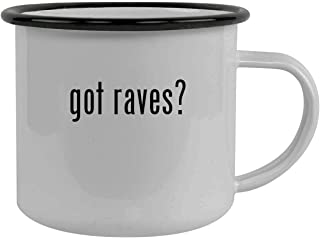 got raves? - Stainless Steel 12oz Camping Mug, Black