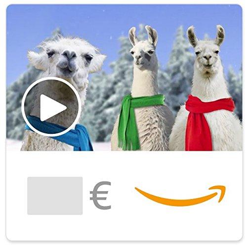 Cheque Regalo de Amazon.es - E-Cheque Regalo - Llamas de Navidad (animación)